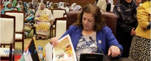 السودان رئيس وفد دولة فلسطين تؤكد ضعف مشاركة المرأة العربية في الانتخابات