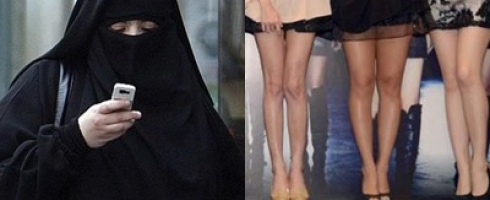 بين النقاب والميني جوب نساء أخريات