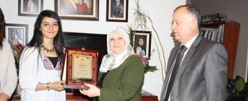 تكريم الأسيرة الفلسطينية المحررة لينا خطاب