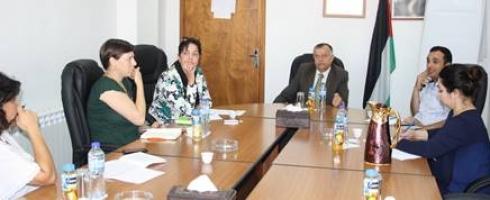 وزارة شؤون المرأة الفلسطينية تبحث آليات تنفيذ الإطار الوطني الإستراتيجي لقرار 1325