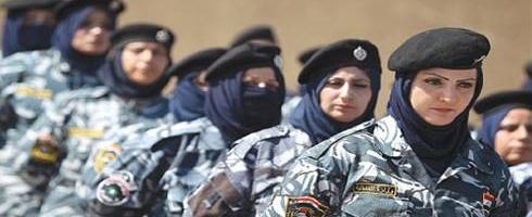المرأة تثبت جدارة بحفظ الأمن شرقي العراق