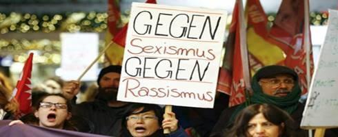 تظاهرات في كولونيا احتجاجاً على الاعتداءات الجنسية التي تعرضت لها 80 امرأة ليلة رأس السنة