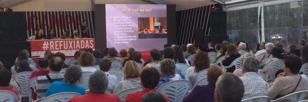 """مشاركة """"مساواة""""في مهرجان منظمة أكامبا، في مدينة كورونا لدعم اللاجئات واللاجئين"""