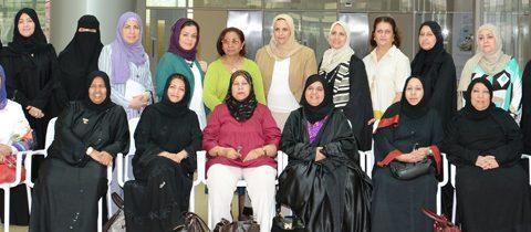 """البحرين لجنة التعاون بين المجلس الأعلى للمرأة والجمعيات النسائية تزور مركز """"ريادات"""""""