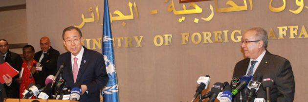 من الجزائر، الأمين العام يؤكد على أهمية تدريب الشرطة على حماية النساء والفتيات من العنف