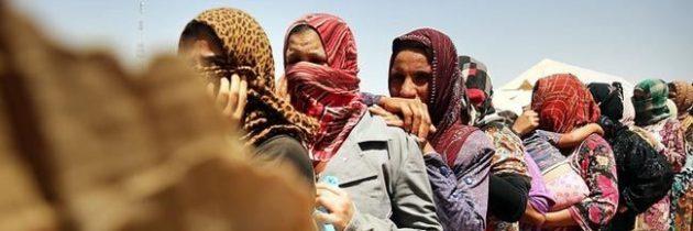 عشرات العراقيات يتظاهرن للتنديد بأفعال داعش